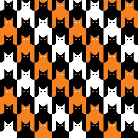 houndstooth: CatsTooth Halloween Pattern
