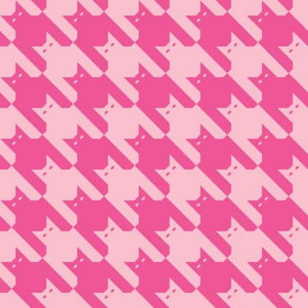 CatsTooth Pattern in Pinks Vector