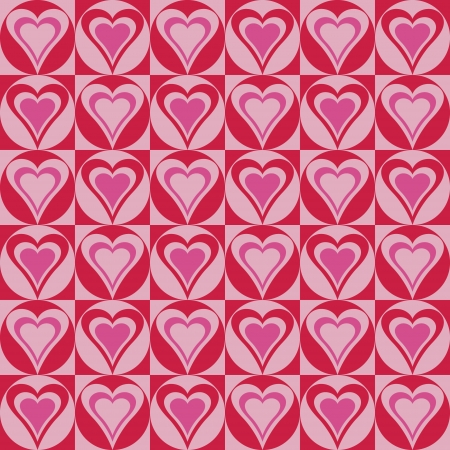 Hearts Background in Red and Pink Stock Vector - 13856974