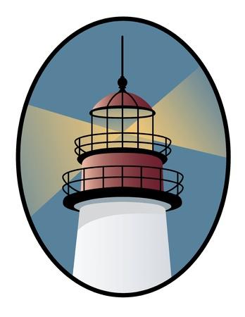 대양의: 등대의 아이콘 일러스트