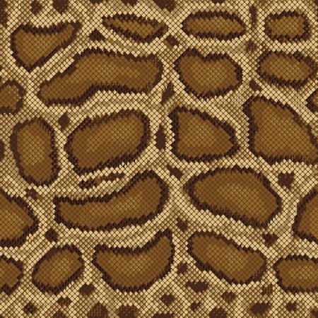Python Schlangenleder Muster wiederholt sich nahtlos. Vektorgrafik