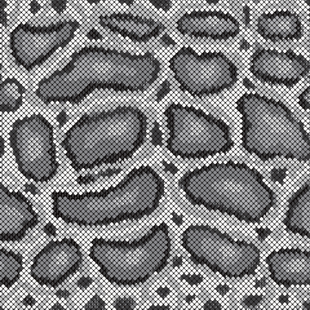 Python snakeskin pattern in greys repeats seamlessly. Vector