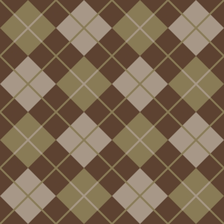 Seamless argyle pattern in browns  Illustration