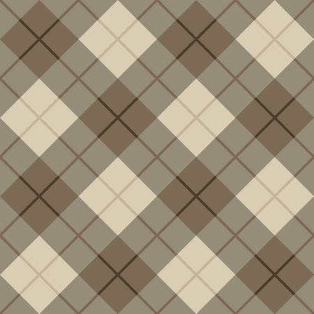 menswear: Seamless vector plaid pattern in browns  Illustration