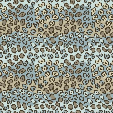 Spotted Cat modèle en brun et bleu répète de façon transparente. Banque d'images - 19869978