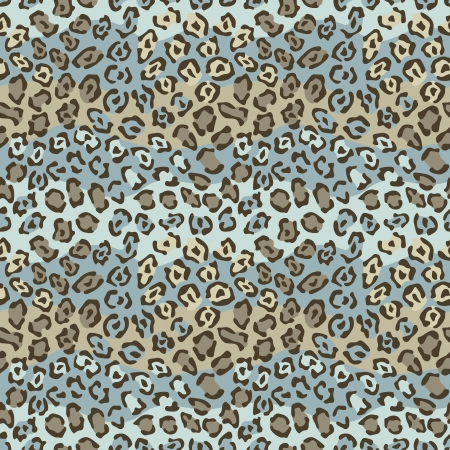 Spotted Cat Pattern in Brown and Blue repeats seamlessly.