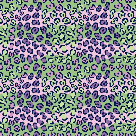 Spotted Cat Pattern in Purple and Green repeats seamlessly.