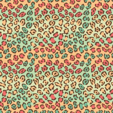 Spotted Cat Pattern in répète orange et vert de façon transparente. Banque d'images - 19855227