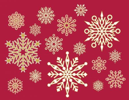 x mas: Lacy Snowflakes Illustration
