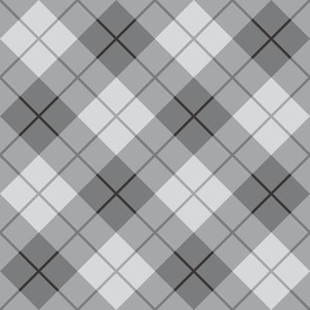 Bias Plaid in greys repeats seamlessly  Ilustração