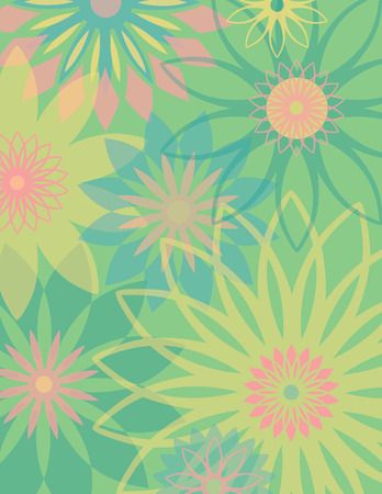 flower clip art: Springtime Flowers floral background