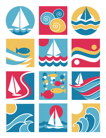 water sports: Water sports icons collection