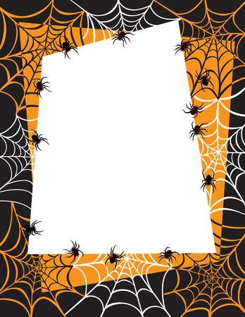 Spider Web Border Background Vector