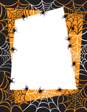 Spider Web Border Background