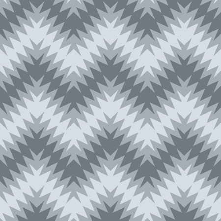 Blurry zigzag  seamless pattern in grey Vector
