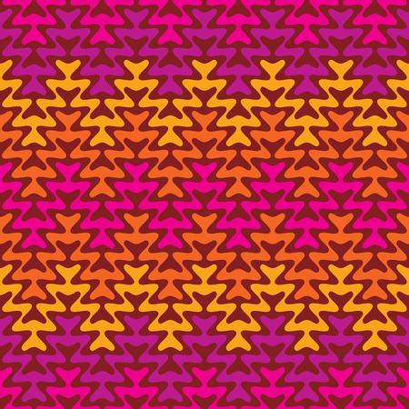 Retro Zigzag Pattern in warm colors.