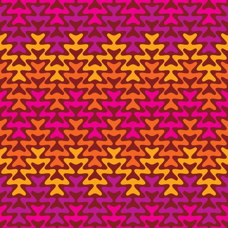 warm colors: Retro Zigzag Pattern in warm colors.
