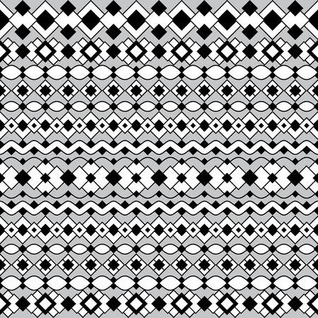 curvilinear: Art Deco Pattern in black and white Illustration