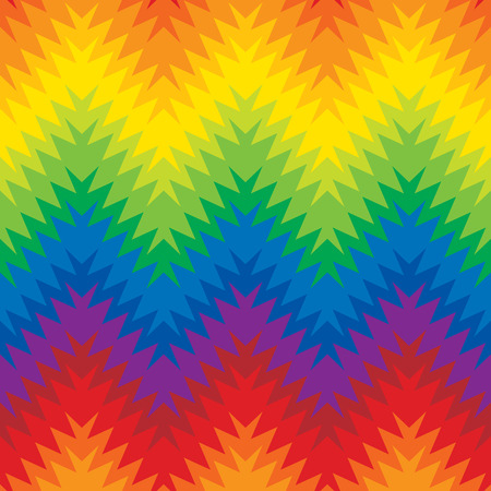 Blurry zigzag  seamless pattern in rainbow colors.