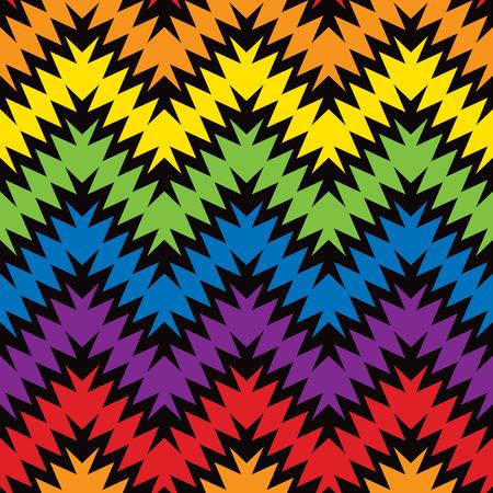 ジャグ ジグザグ パターンでプライマリとセカンダリの色。