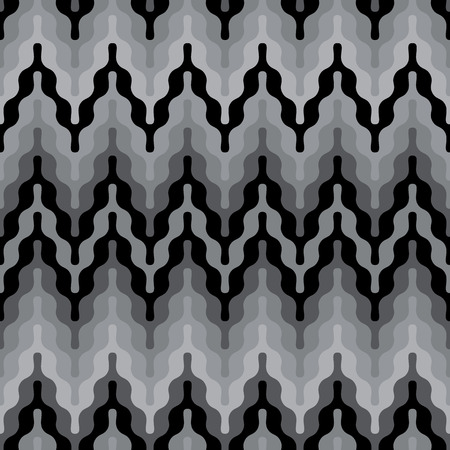 Rounded Zigzag pattern in grey