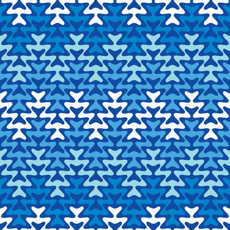 Seamless Blue Zigzag pattern repeats seamlessly.