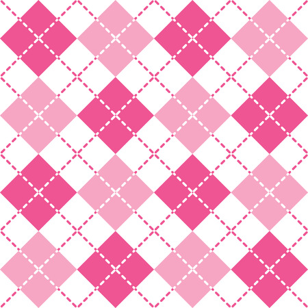preppy: Pink Argyle seamless pattern.