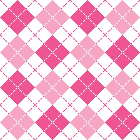 preppy: Pink Argyle seamless pattern.