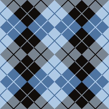 preppy: Seamless argyle pattern in black and blue.