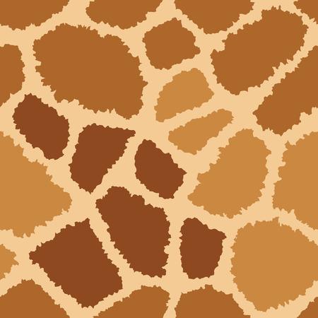 Giraffe fur texture pattern repeats seamlessly. Çizim