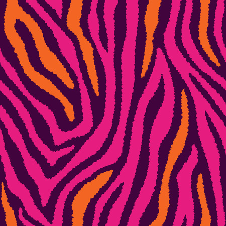 striping: Zebra fur texture pattern in wild colors repeats seamlessly. Illustration