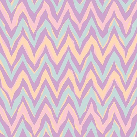 Vrije vorm abstract zigzag patroon in pastel kleuren herhaalt naadloos.