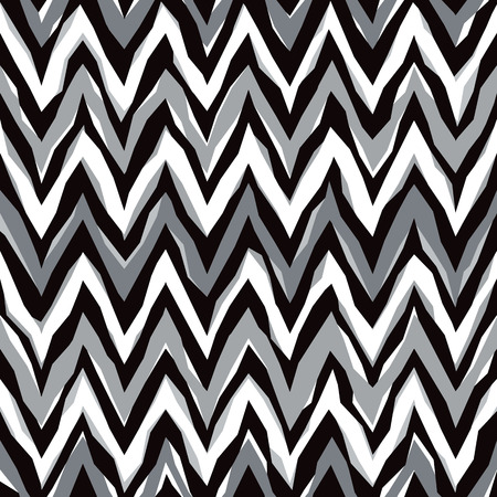 Free-form abstract zigzag pattern in grey repeats seamlessly.