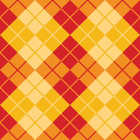 Seamless argyle pattern in alternating colors of red and yellow.
