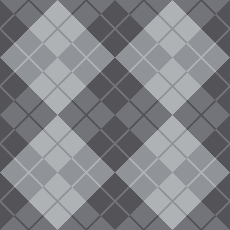 Classic argyle pattern in alternating shades of grey repeats seamlessly.