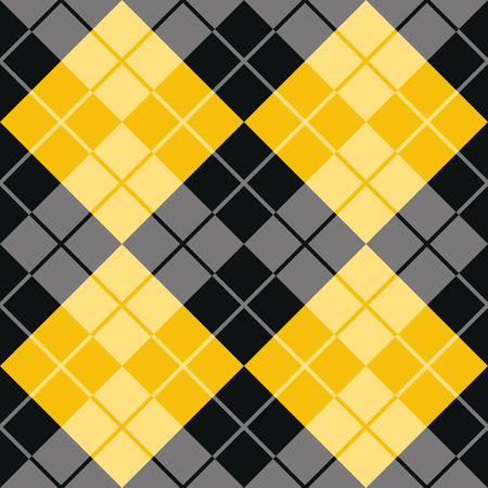 Classic argyle pattern in alternating colors of yellow and black repeats seamlessly.