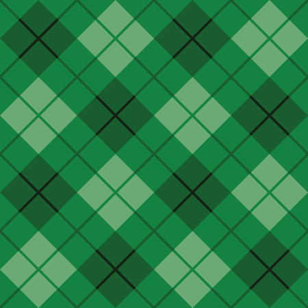Bias plaid pattern in green repeats seamlessly.