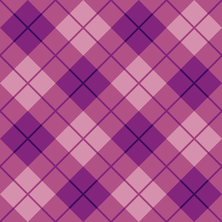 Seamless diagonal plaid pattern in purple and pink.