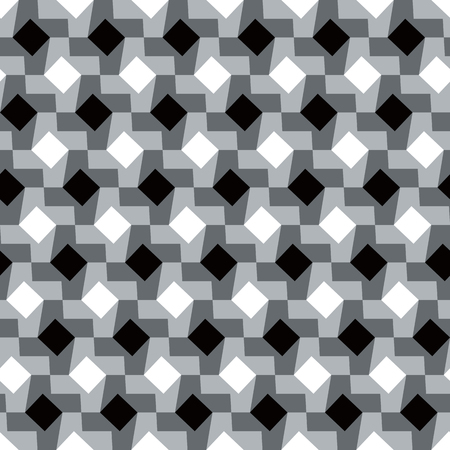 grey scale: Houndstooth pattern variation in black, white and grey repeats seamlessly.