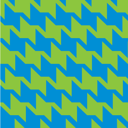Houndstooth zigzag pattern in blue and green repeats seamlessly. Ilustrace
