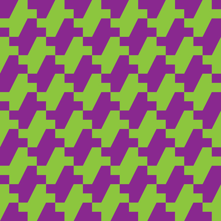 Houndstooth zigzag pattern in green and purple repeats seamlessly. Reklamní fotografie - 89000158
