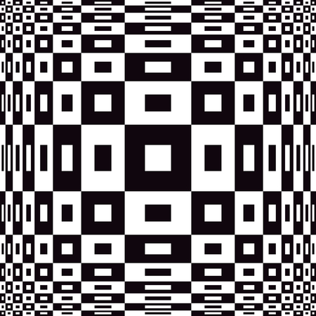 op: Expanding Op Art design in black and white. Illustration