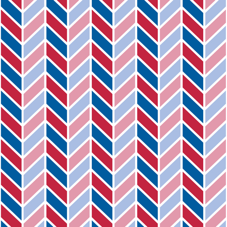 Chevron pattern in red, white and blue repeats seamlessly.