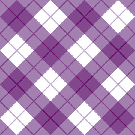 Bias plaid pattern in purple and white.