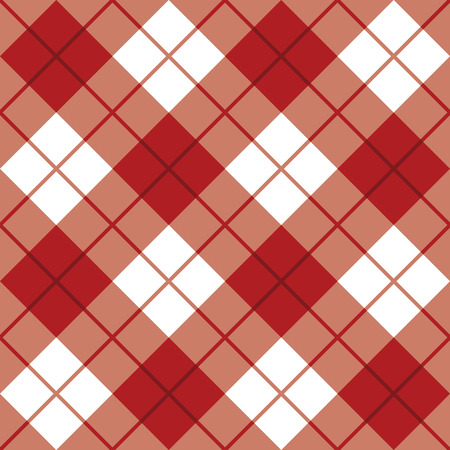 Bias plaid pattern in red and white.