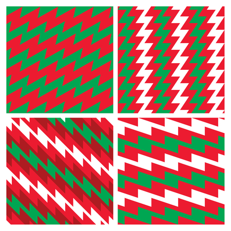 Christmas Zigzag Patterns collection
