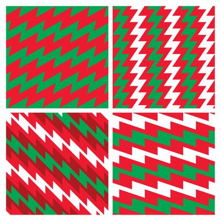 Christmas Zigzag Patterns collection Reklamní fotografie - 89664038