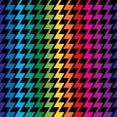 Zigzag pattern in rainbow colors repeats seamlessly. Reklamní fotografie - 90650993
