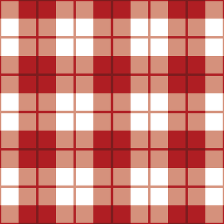 Seamless straight plaid pattern in red and white. Reklamní fotografie - 90028157