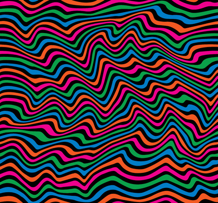 Colorful wavy stripes pattern repeats seamlessly.